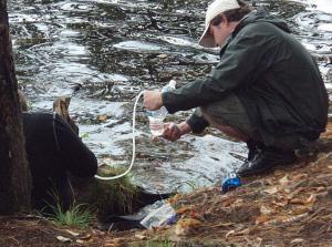 Filtering Water from Saint Regis Pond