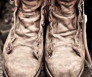 old-hiking-boots